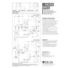 Kitchen Faucet Hole Size Delta Faucet 4353 Ar Dst Linden Arctic Stainless Pullout Spray