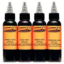 the concentrates four color ink set eternal tattoo ink