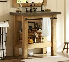 Bathroom Sink Console Table Abbott Single Sink Console Pottery Barn