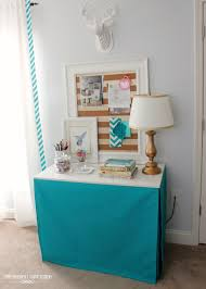 tailored table skirt the easy way craft room and sewing rooms