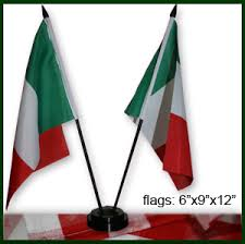 table top flag stands italian style