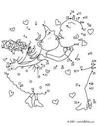 connect dot coloring pages the dots for kindergarten hard free