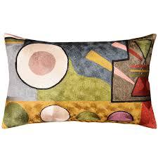 Modern Throw Pillows For Sofa Lumbar Kandinsky Soul Flood Decorative Pillow Cover Silk