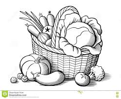 basket with vegetables stock vector image 78499439