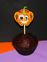 Halloween Cake Topper by Quilling Cupcake Topper Halloween Pumpkin Set Of 6 Table