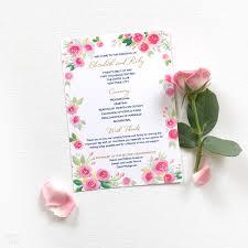 Custom Wedding Programs Place Cards Archives Watercolor Wedding Invitations Unique