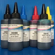 6 dye ink refill bottles canon mg6250 mg6350 mg8150 mg8250 mg8350