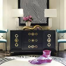 turner blue and brass credenza modern furniture jonathan adler
