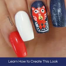 i found a cat in my pocket tutorial u2013 mitty nail art tools u0026 brushes