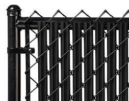 halloween fences black 4ft ridged slat for chain link fence walmart com