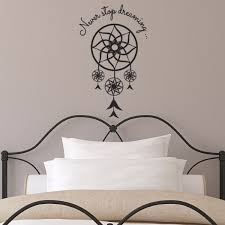 never stop dreaming dream catcher wall sticker dreamcatcher never stop dreaming dream catcher wall sticker dreamcatcher bedroom decal amazon co uk kitchen home