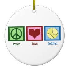 Softball Christmas Ornament - i love softball gifts t shirts art posters u0026 other gift ideas