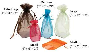 large organza bags organza pouches with square gusset cardboard bottom