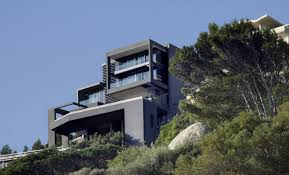 modern home plans hillside home modern