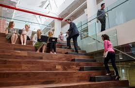 how stairways promote collaboration u2014as well as having a walk on