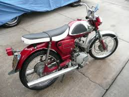 1967 yamaha yl1 electric twin 100 2 stroke vintage bike black and