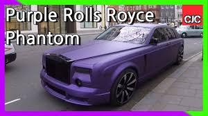 velvet rolls royce crazy matte purple mansory rolls royce phantom youtube