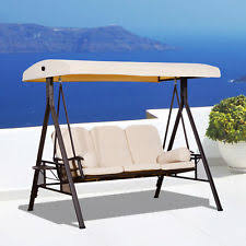 Rattan Swing Bench Rattan 2 Seat Garden Swing Bench Sun Canopy Footrest Patio Outdoor