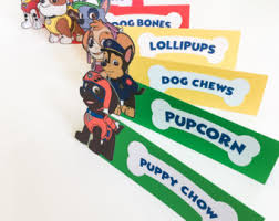 paw patrol decor etsy