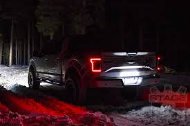 2016 f150 led tail lights 2015 2017 f150 anzo drl outline led taillights black housings 311261