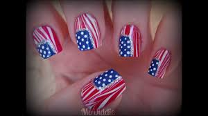 4th of july american flag water marble nails youtube