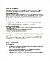 general objective statement resume objective examples hirescoreco