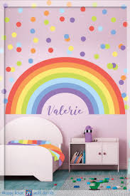 best 25 rainbow wall decal ideas on pinterest rainbow room kids pastel rainbow wall decal pastel polka dot pastel rainbow personalized name wall decor
