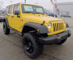 Lifted 2015 Jeep Wrangler Unlimited Sport Yellow Lifted Trucks