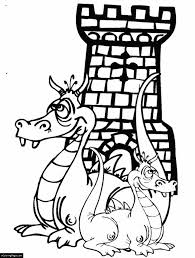 dragons castle coloring printable kids