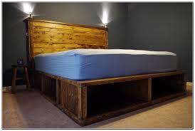 Queen Platform Bed With Storage And Headboard Bedroom Diy Platform Bed Storage Ideas Bordeaux Platform Bed
