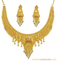 gold necklace earring sets images Mothers day pendants indian necklace earrings stgo8021 gold necklace jpg