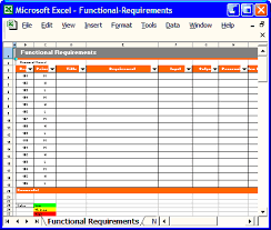 Requirements Template Excel Requirements Analysis Part 7 Software Requirements Specification