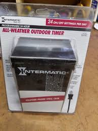 Intermatic 24 Hr Outdoor Timer by New Intermatic Programmable 24 Hour All Weather Outdoor Timer