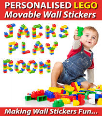 personalised lego letters wall stickers totally movable 1 20