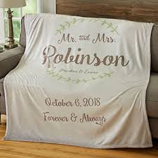 personalized wedding blankets mr mrs personalized 60x80 wedding blanket anniversary gifts
