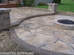 fire pit patio concrete overlay findlay oh ohio decorative