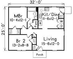 Small House Plans 700 Sq Ft 700 Sq Ft House Plans 24 X 32 House Designs Pinterest