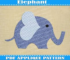 popular items for boy baby quilt on etsy elephant applique pattern