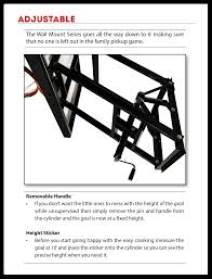 Adjustable Basketball Hoop Wall Mount Ryval Wm60 60