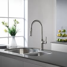 single handle pulldown kitchen faucet kraus kpf 1630ss nola single lever pull kitchen faucet