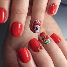 beads and red rooster chinese new year nail art design nails