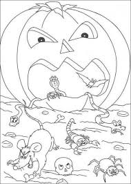 kid scary halloween pumpkin coloring pages hallowen coloring