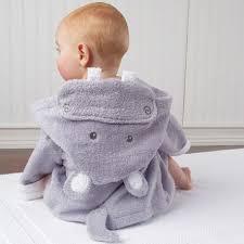 robe de chambre bébé peignoir robe de chambre bébé hippo rigolote et douce