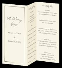 program paper tri fold foil program paper ecru pearl wedding programs for the
