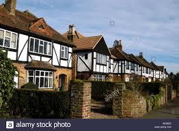 Tudor Houses by Expensive Mock Tudor Houses In Esher Surrey England Uk Stock