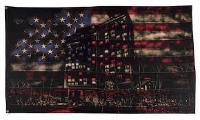 Vintage Flag Art Urban Art Textile Artist Original Paintings Vintage Flags Fabric