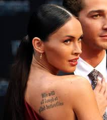 for 2011 megan fox tattoos from shakespeare to