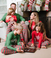personalized family christmas pajamas stripe pajamas