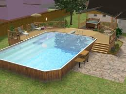 Backyard Above Ground Pool by 43 Best Large Above Ground Pools Images On Pinterest Above
