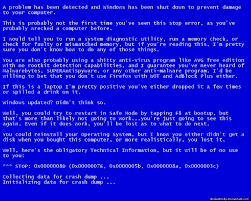 blue screen of death problems westford computer services